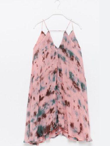 Vestido vaporoso de Sfera con estampado Tie Dye