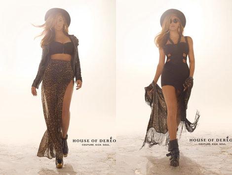 Beyoncé apuesta por el animal print en la colección otoño 2012 de House of Deréon