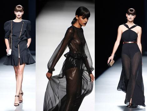 Modelos del desfile de la colección primavera/verano 2013 de Juanjo Oliva