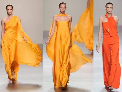 Vestidos de seda de la colección primavera/verano 2013 de Roberto Torretta