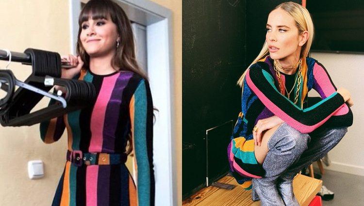 Aitana y Brisa Fenoy con el mismo vestido de María Escoté