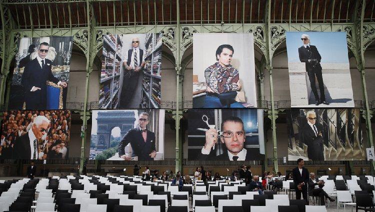 Imágenes del fallecido kaiser </p><p>de la moda en el Grand Palais