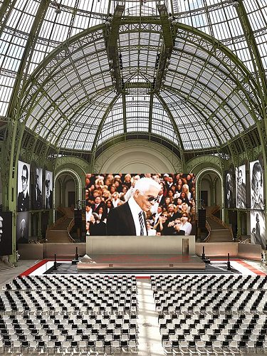 El Grand Palais homenajeaba a Karl Lagerfeld
