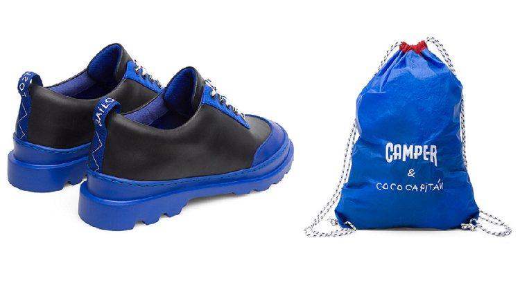 Modelo Brutus x Coco Capitan y la bolsa del packaging especial