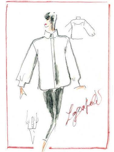 Una reinterpretación de uno de sus mayores símbolos, la camisa blanca del creador alemán