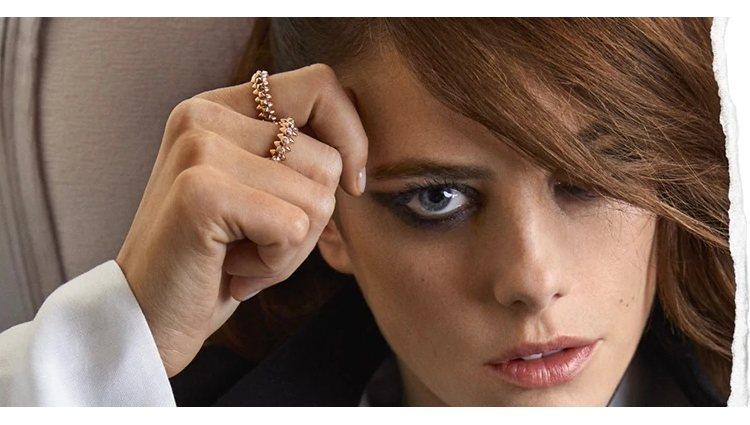 Los anillos Clash de Cartier con acabdos en oro rosa