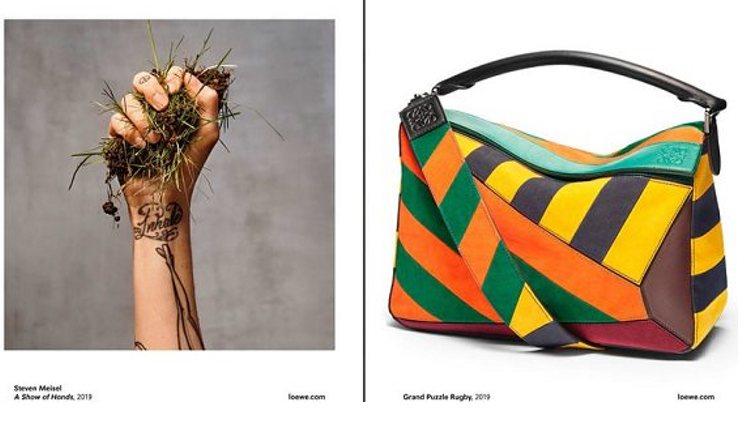 Secuencia de las otras dos imágenes de campaña de Steven Meisel para Loewe