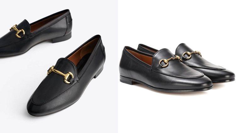 Mocasines Uterqüe (izquierda) y mocasines Gucci (derecha)</p><p>