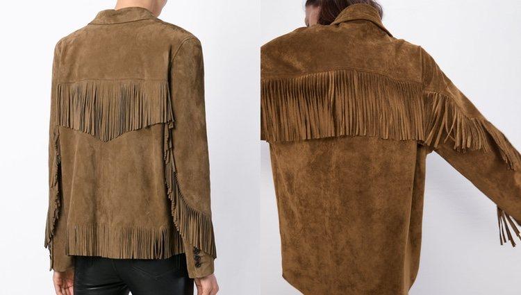 Chaqueta de flecos Saint Laurent (izquierda) y chaqueta de Zara (derecha)