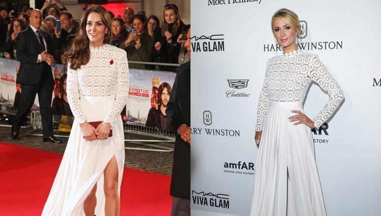 Kate Middleton y Paris Hilton con el vestido de Self Portait