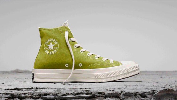 Converse Chuck 70 de la colección Renew en verde lima