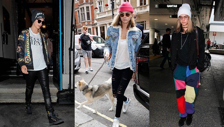 Street style de Cara Delevingne a lo largo de los años