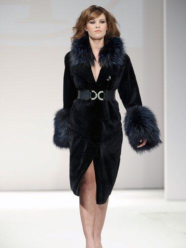 Jessica Bueno con abrigo de visón de Toni Fernández