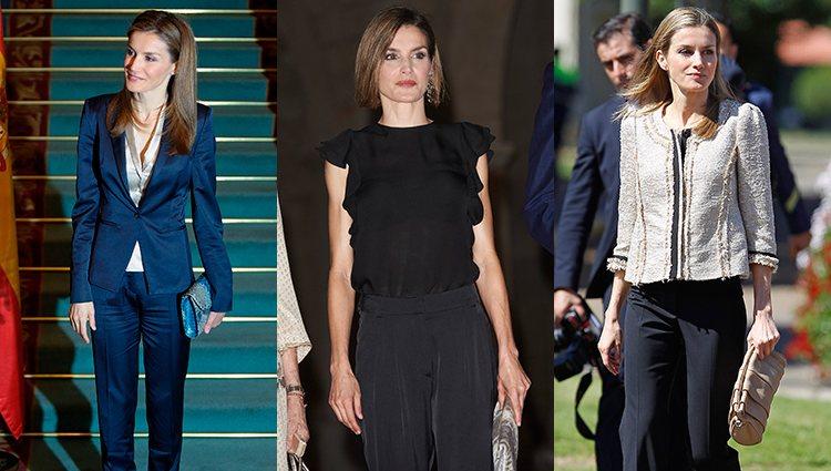 La Reina Letizia con looks de pantalón