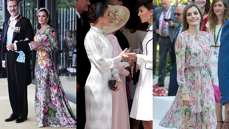 La Reina Letizia con diseños de firmas españolas