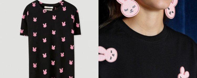 La camiseta de Pull&Bear frente a un diseños de Becomely