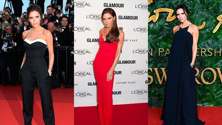 Las alfombras rojas de Victoria Beckham