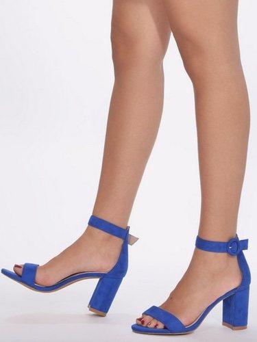 Sandalias de tacón azul de Marypaz