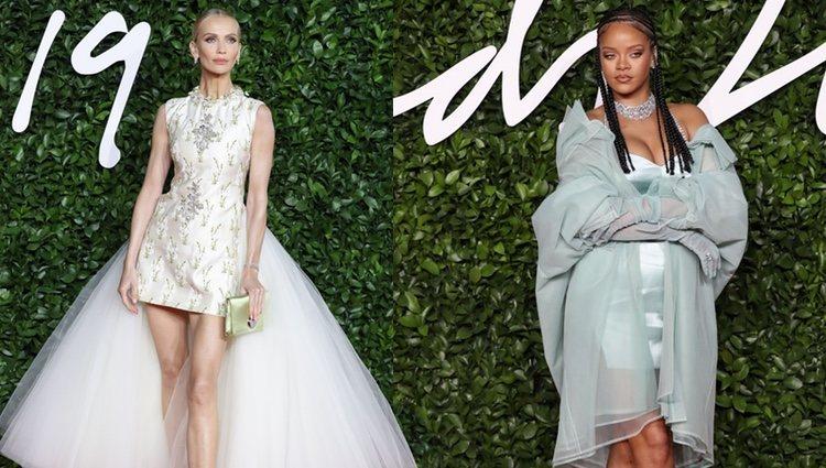 Rihanna y Tatiana Korsakova en los British Fashion Awards 2019