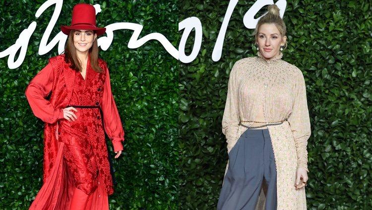 Noomi Rapace y Ellie Goulding en los British Fashion Awards 2019