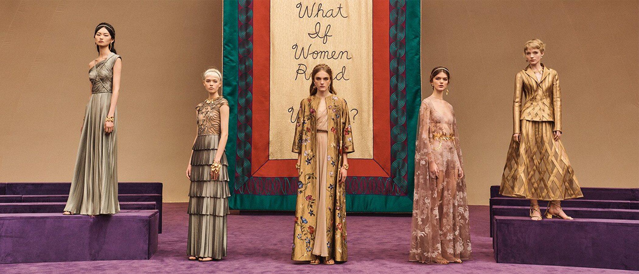 Las diosas griegas y Judy Chicago como eje central del desfile de Alta Costura 2020 de Dior