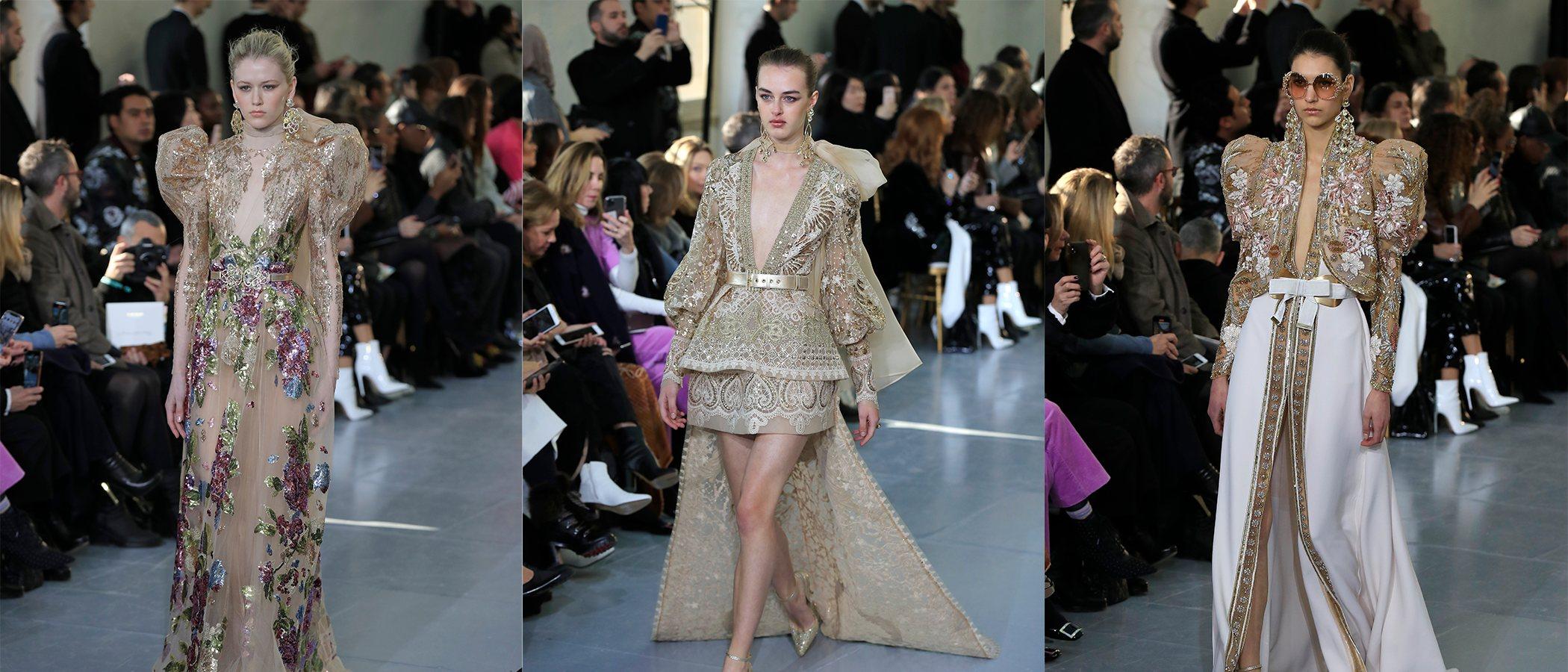 Los secretos de la estética imperial en el desfile de Alta Costura de Elie Saab