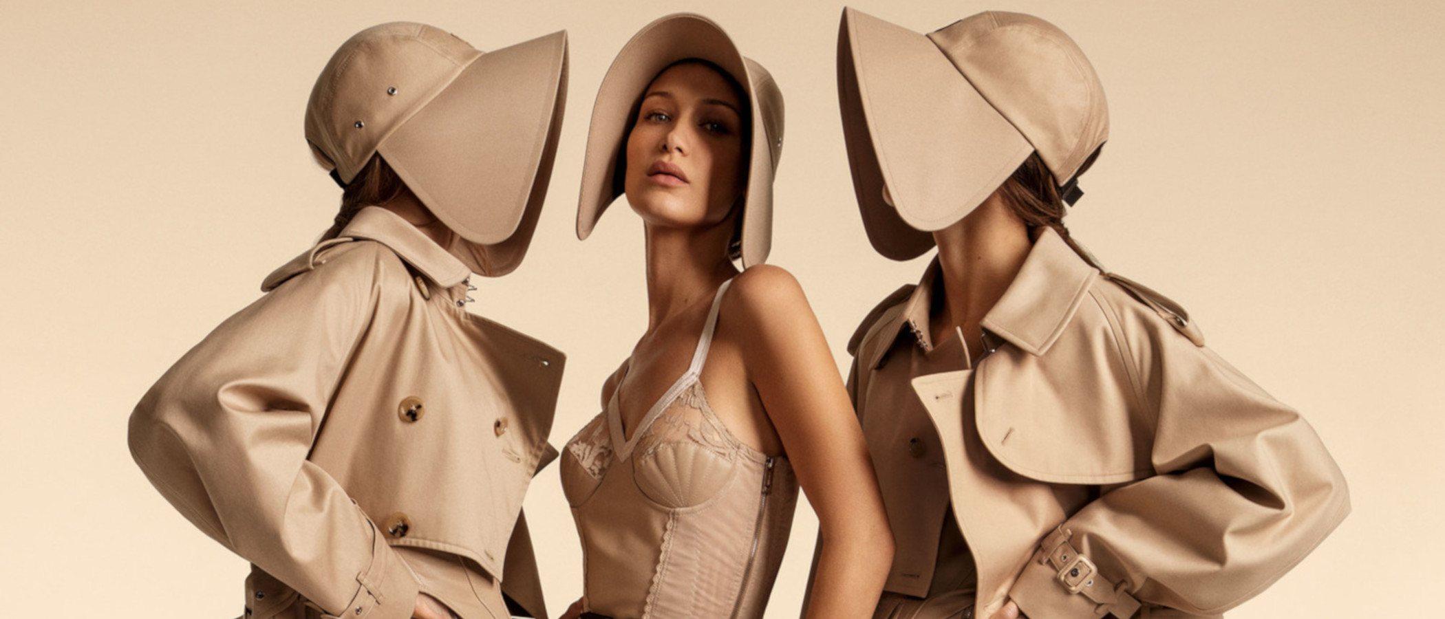Burberry reúne a Kendall Jenner y a las hermanas Hadid en su campaña primavera/verano 2020