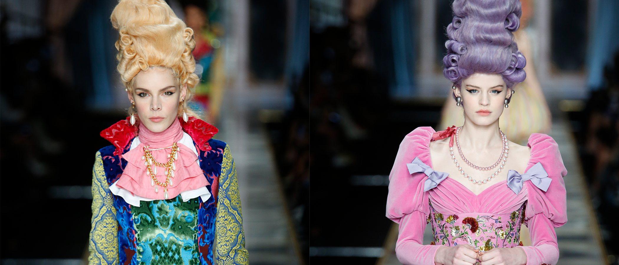 El exorbitante estilo de Maria Antonieta inspira la colección de Moschino otoño/invierno 2020-2021