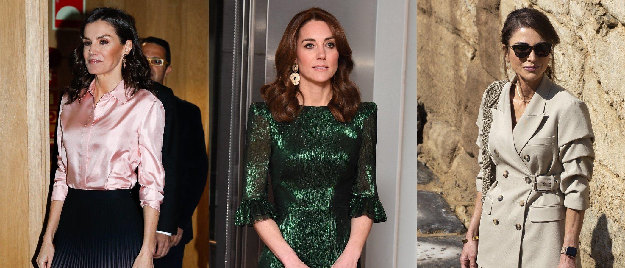 La Reina Letizia, Kate Middleton y Rania de Jordania, las mejor vestidas de la semana