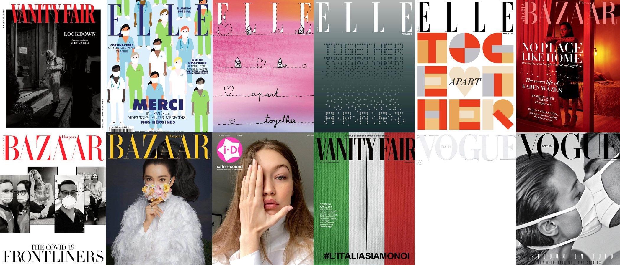 Las revistas de moda se ponen también en cuarenta por el coronavirus