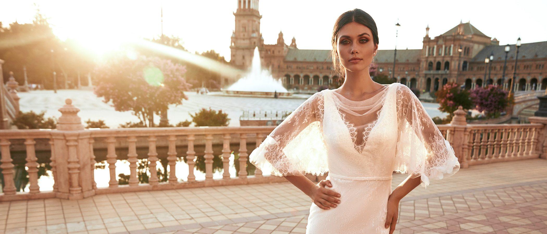 Pronovias lanza una colección de vestidos de novia en colaboración con Marchesa con aires sevillanos