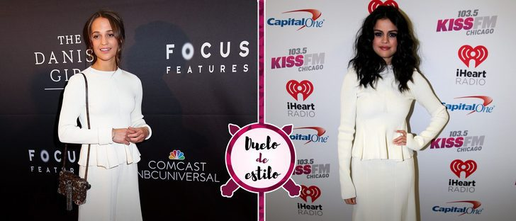 Alicia Vikander y Selena Gomez con un mismo look de Victoria Beckham: ¿quién lo luce mejor?