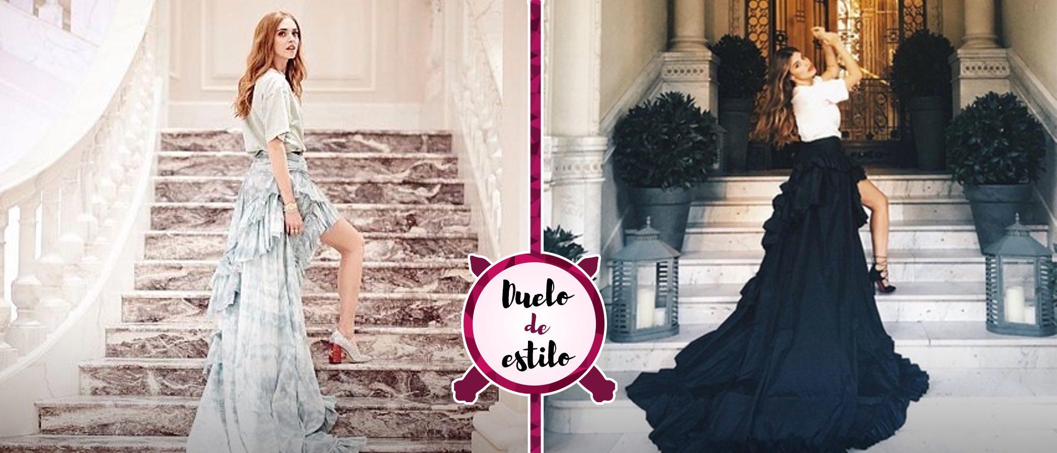 Dulceida y Chiara Ferragni: duelo de bloggeras vestidas de Roberto Cavalli