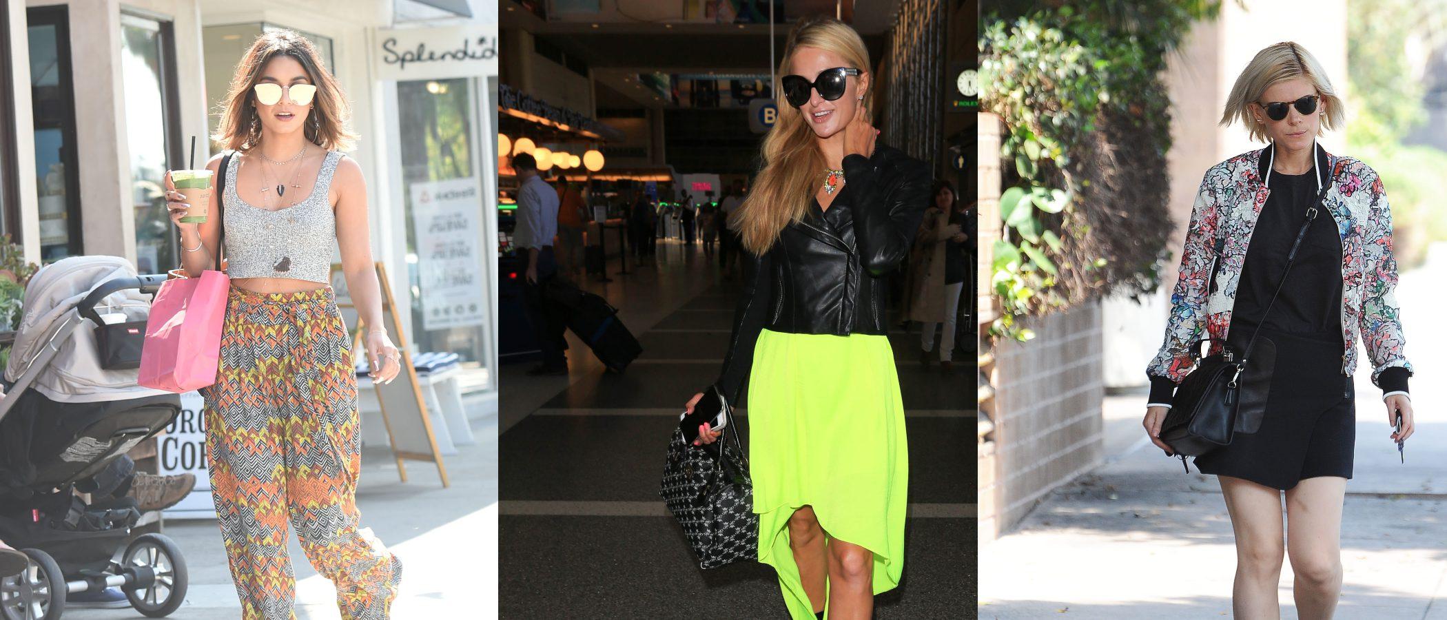 Tendencias urbanas: Paris Hilton, Kate Mara y Vanessa Hudgens, reinas de los looks de verano en la ciudad