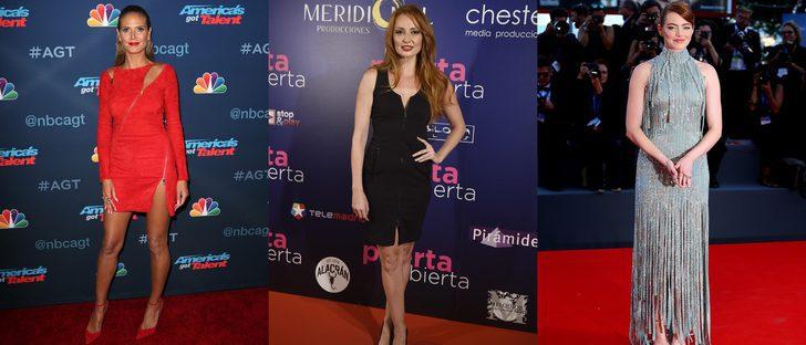 Emma Stone, Cristina Castaño y Heidi Klum vencen entre las mejor vestidas de la semana