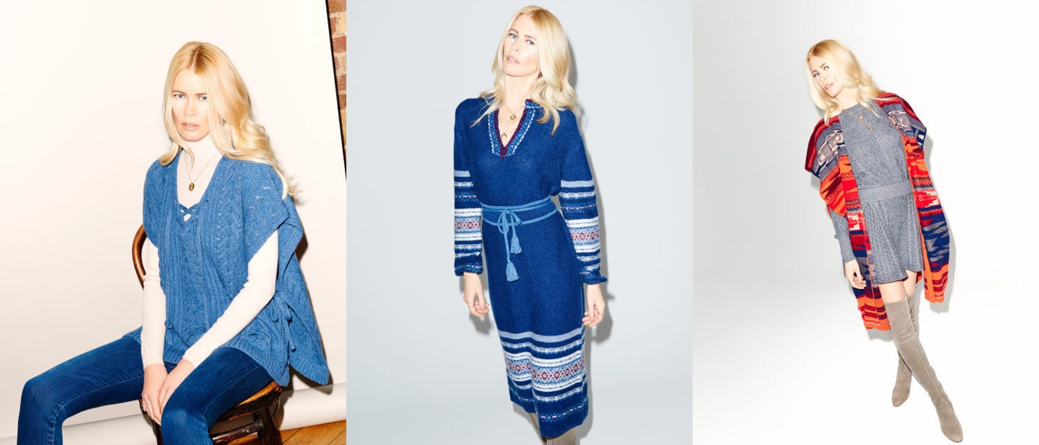 Claudia Schiffer lanza una colección de punto otoño/invierno 2016/2017 con TSE para Stylebop