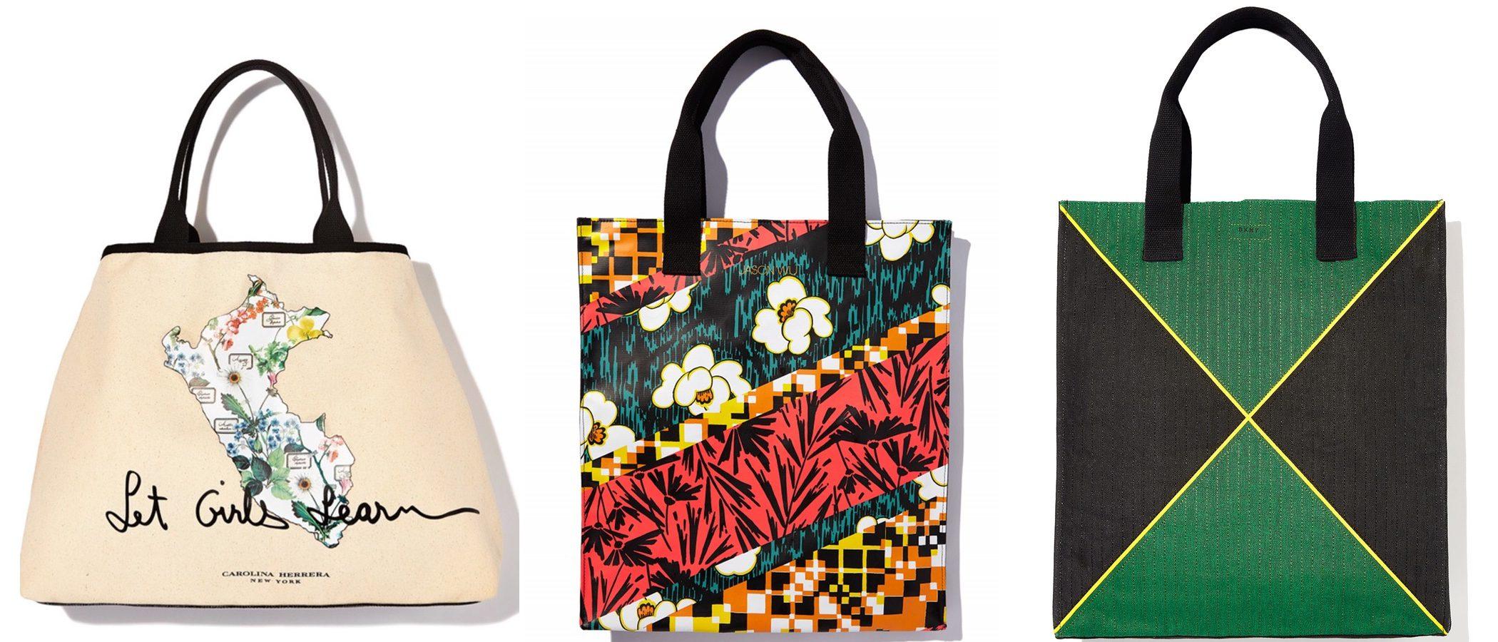 Los bolsos solidarios inspirados en Michelle Obama y firmados por DKNY o Carolina Herrera