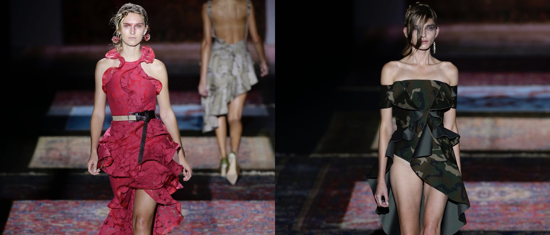 Volúmenes y camuflaje en la colección primavera/verano 2017 de Ana Locking en la Madrid Fashion Week
