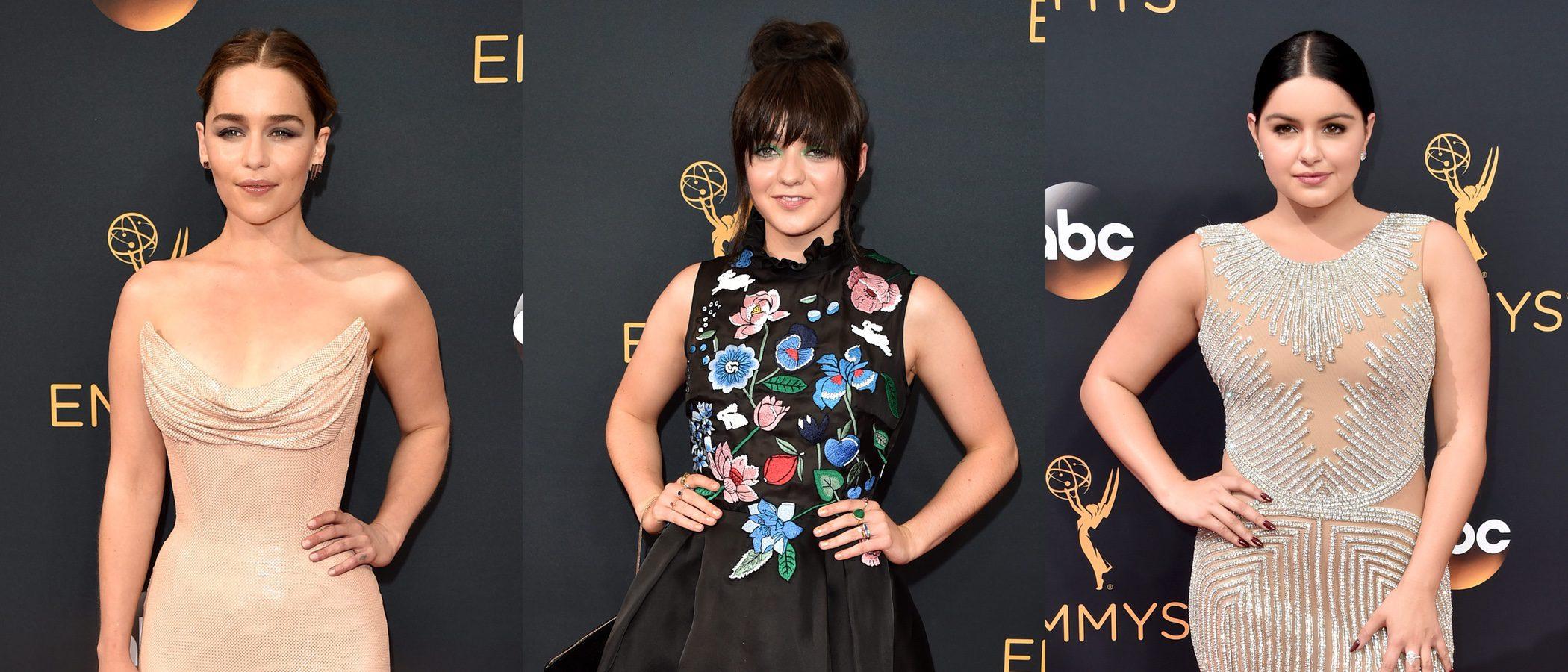 Emilia Clarke, Maisie Williams y Ariel Winter, entre las peor vestidas de los Emmy 2016