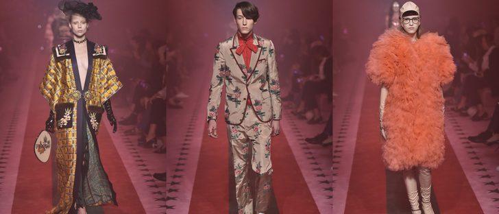 Gucci apuesta por el estilo oriental y vintage primavera/verano 2017 en la Milán Fashion Week