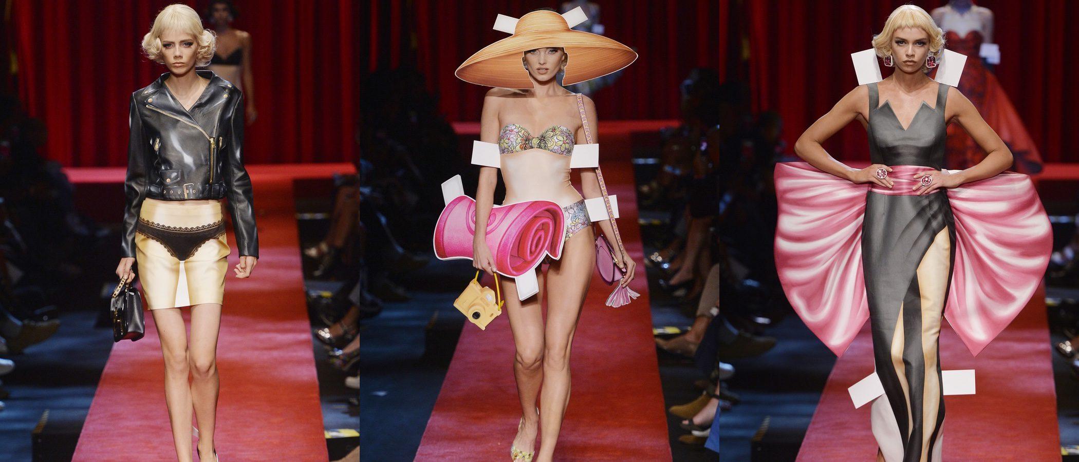 Moschino lleva las muñecas recortables de primavera/verano 2017 a la Milán Fashion Week