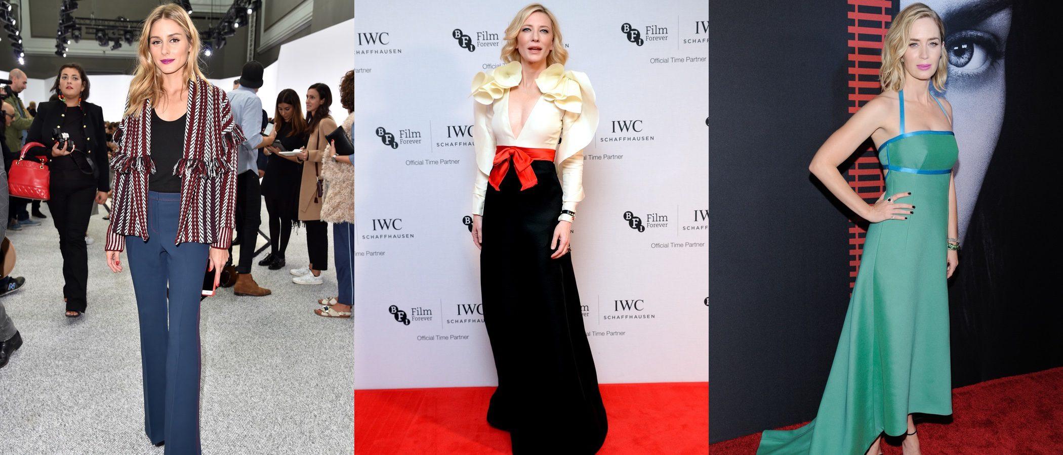 Emily Blunt, Olivia Palermo y Cate Blanchett se coronan como las mejor vestidas de la semana