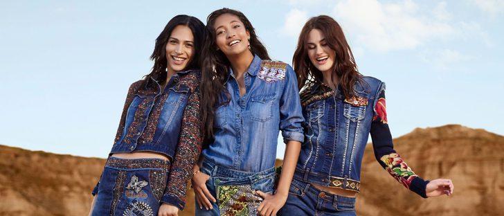 Desigual añade más bordados y nuevos patrones a 'Exotic Jeans' para otoño/invierno 2016/2017