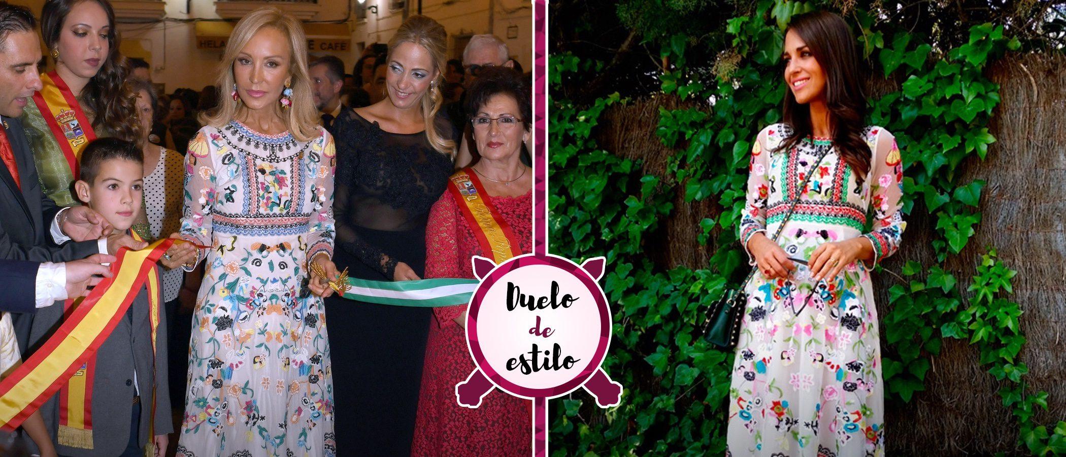 Carmen Lomana y Paula Echevarría con el mismo vestido floral: ¿quién lo luce mejor?