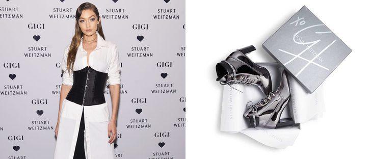 Gigi Hadid diseña unos botines metalizados con Stuart Weitzman por una buena causa