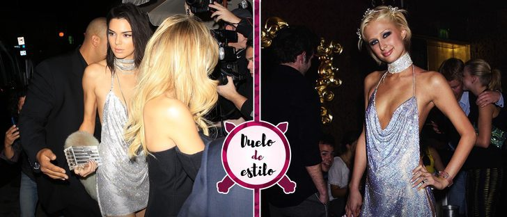 Kendall Jenner y Paris Hilton: un look muy parecido con muchos años de diferencia