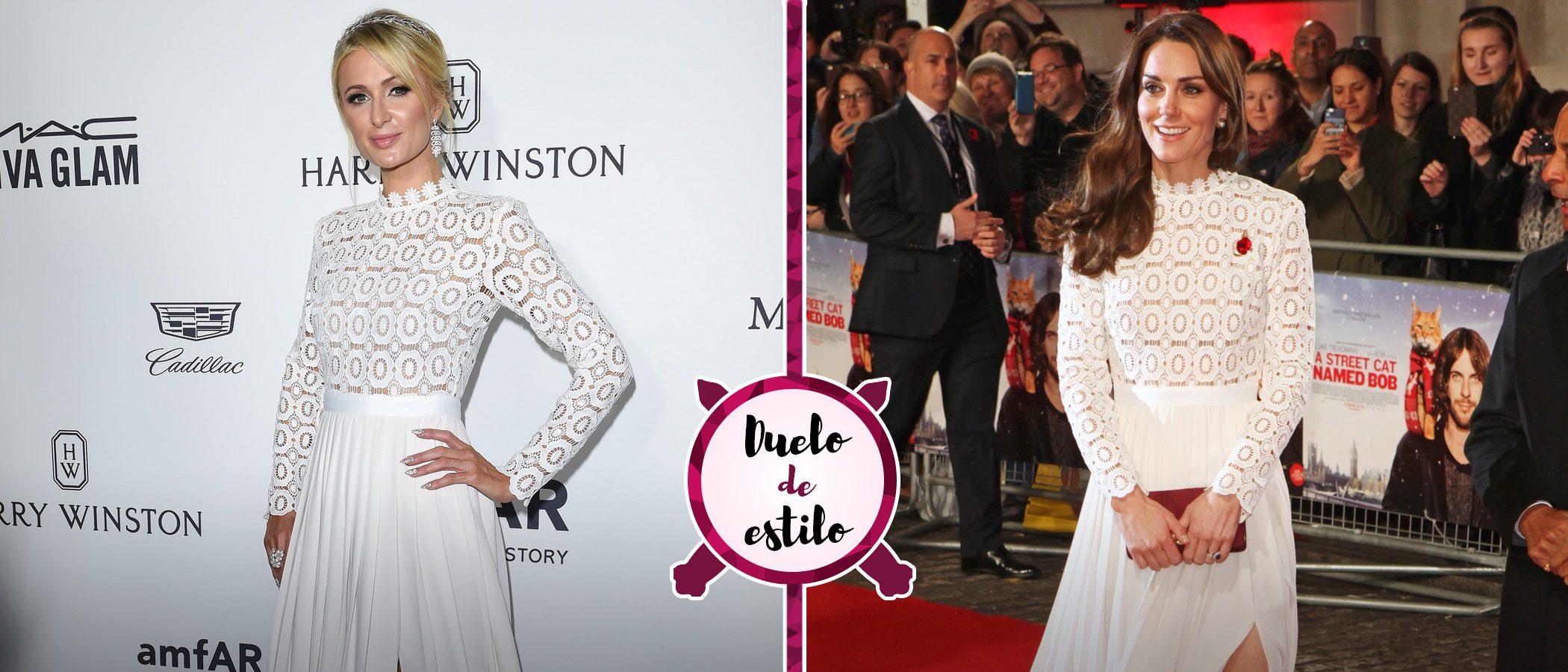 Kate Middleton y Paris Hilton coinciden con el mismo vestido blanco, ¿quién lo luce mejor?