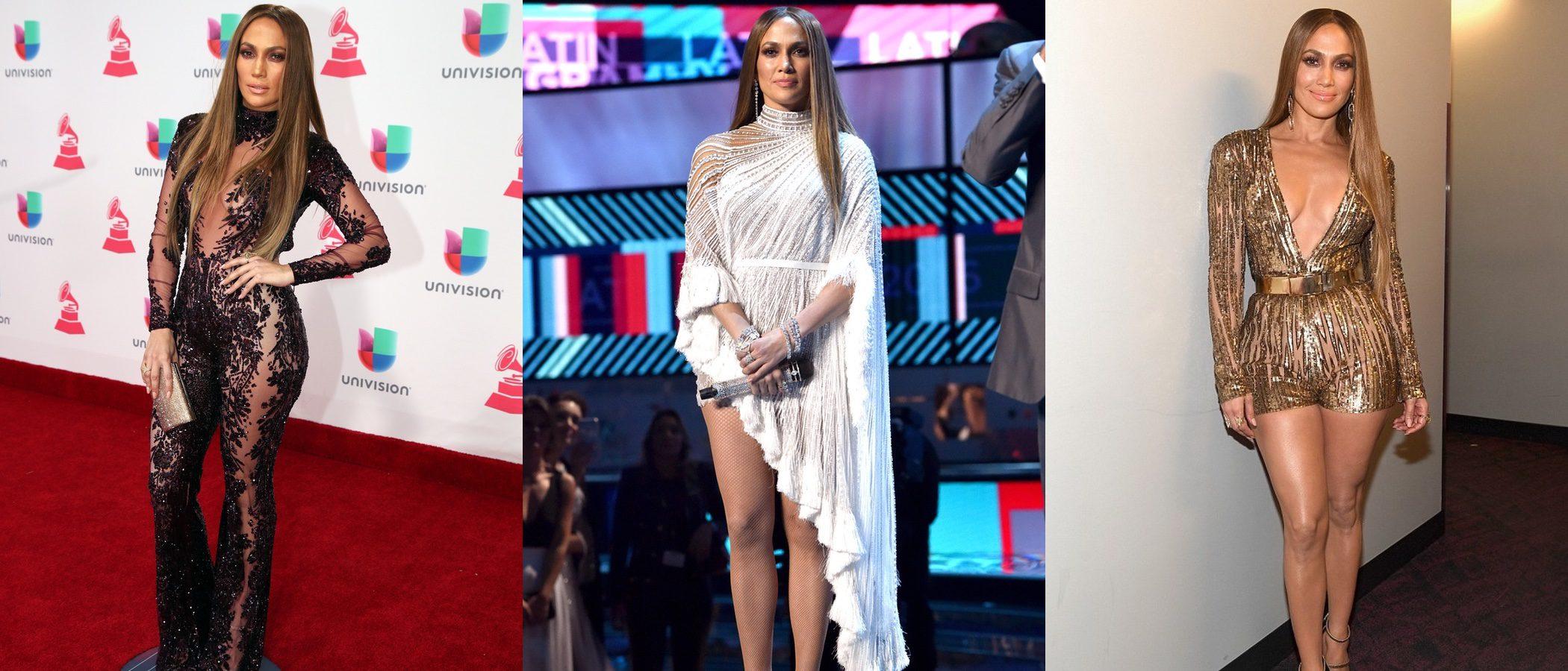Jennifer Lopez presume de curvas con tres looks en la gala de los Latin Grammy 2016