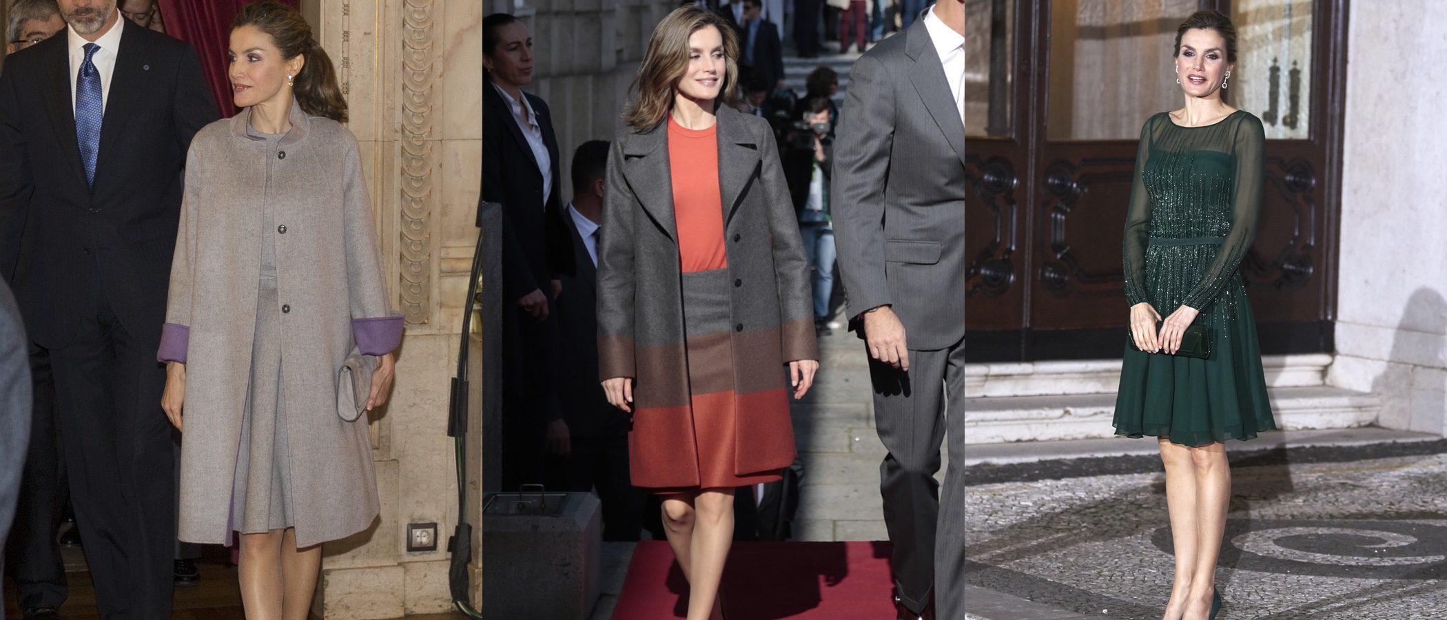 La Reina Letizia da una lección de estilo entre looks repetidos en su viaje de Estado a Portugal