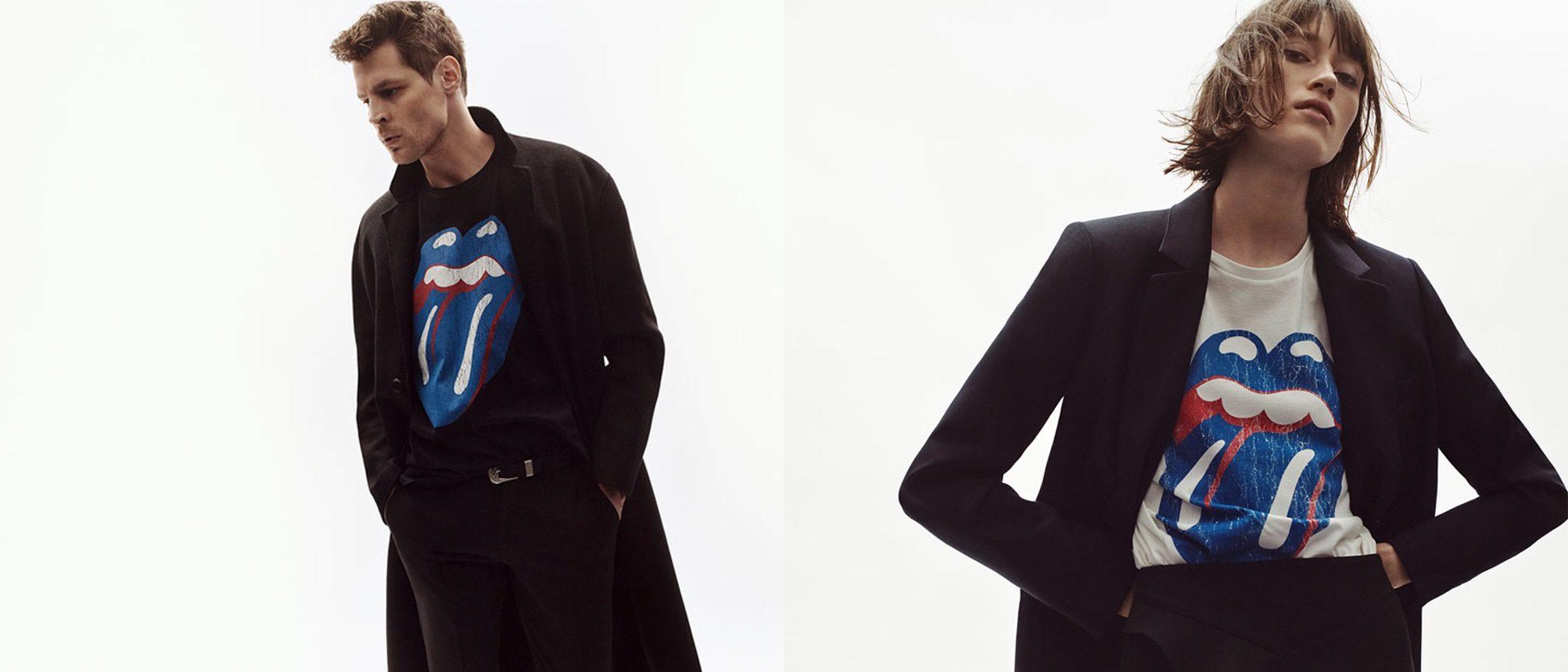 Zara se inspira en los Rolling Stones y lanza una colección de edición limitada